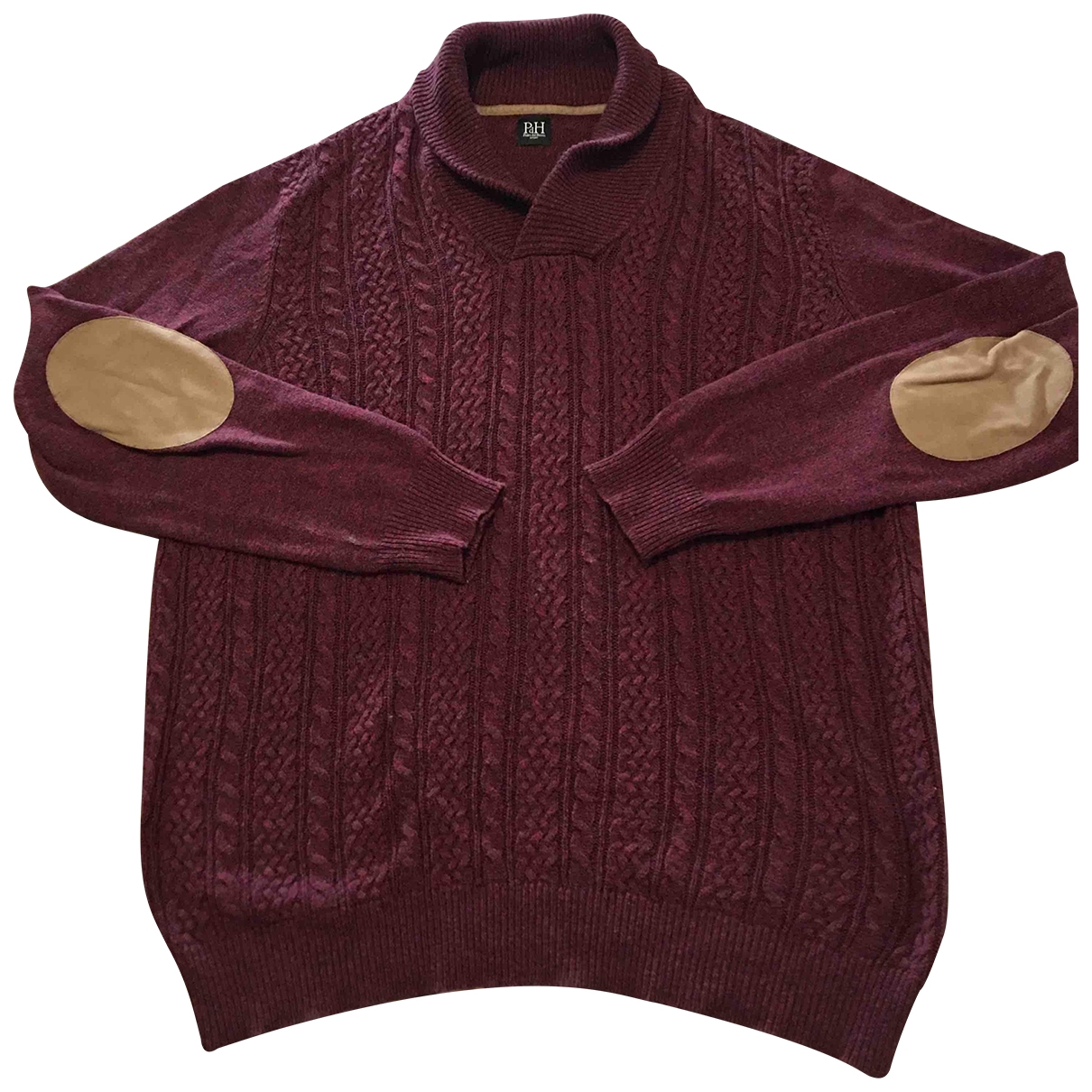 Pedro Del Hierro - Pulls.Gilets.Sweats   pour homme en laine - bordeaux