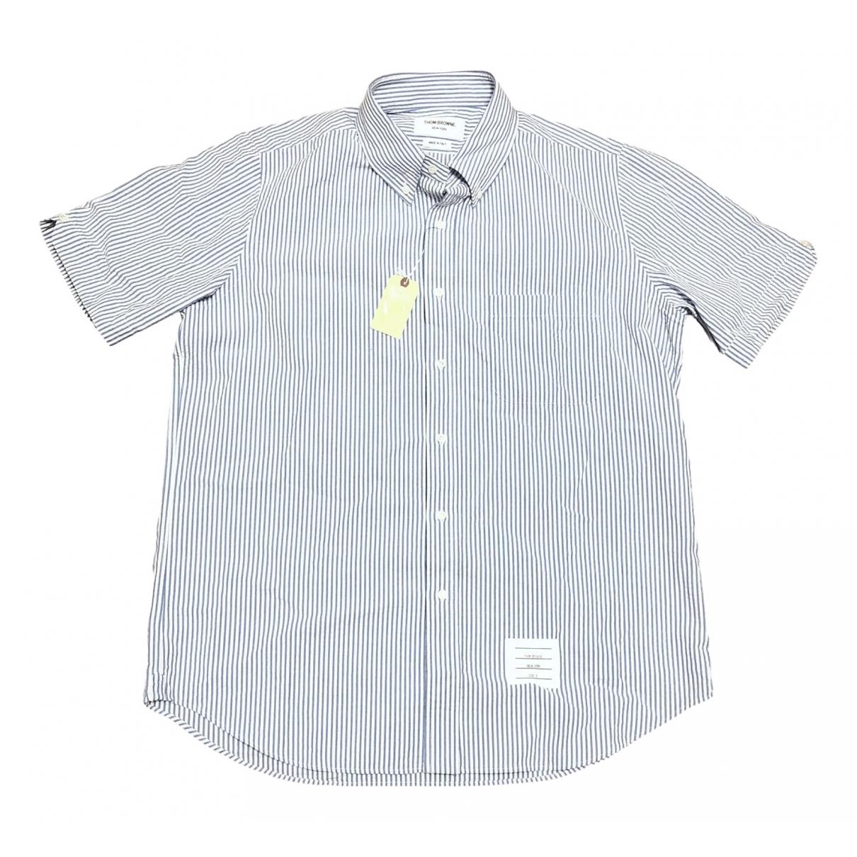 Thom Browne \N Blue Cotton Shirts for Men L International