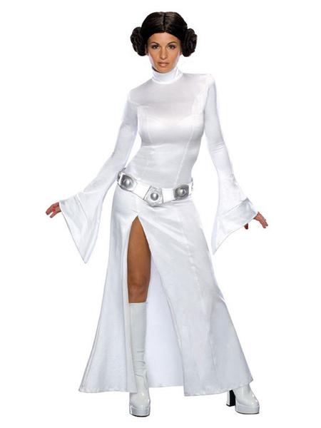 Milanoo Disfraz de Cosplay de Halloween de la Princesa Leia de Star Wars