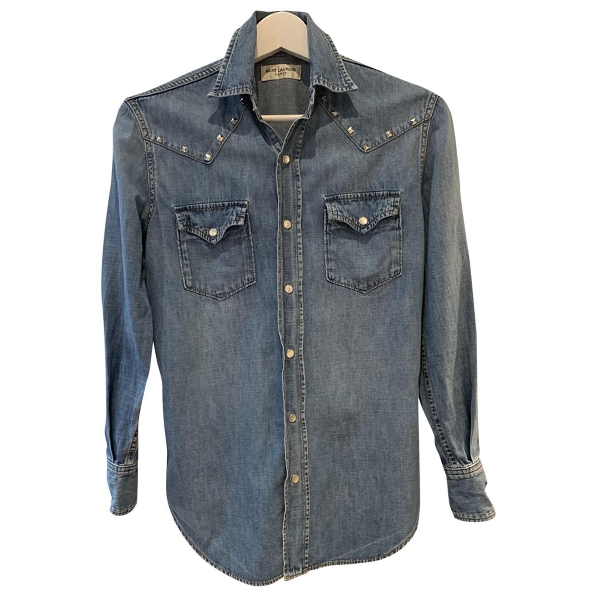 Saint Laurent \N Blue Denim - Jeans  top for Women 36 FR