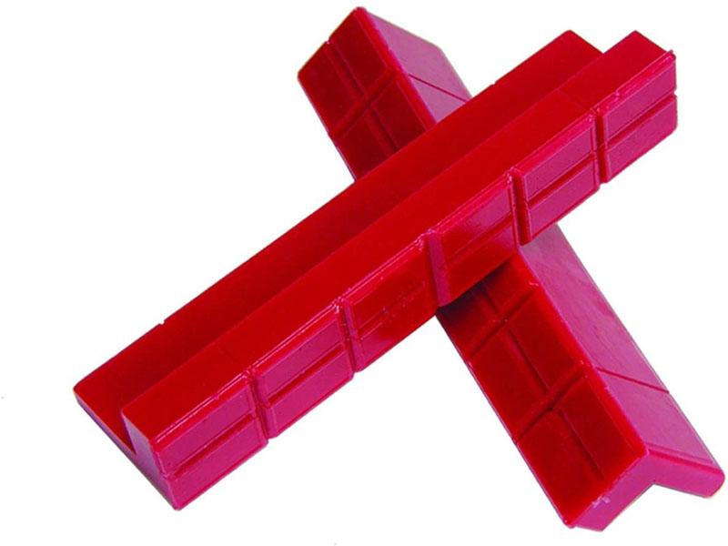 Prothane 19-1450 Universal Vice Pads Soft Jaw Kit - Red
