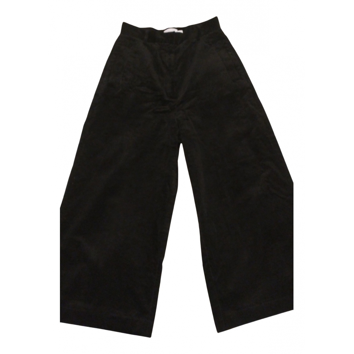 & Stories N Navy Cotton Trousers for Women 36 FR
