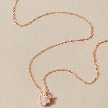 1 pieza collar grabado con piedra preciosa