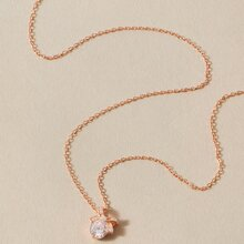 1pc Gemstone Decor Necklace