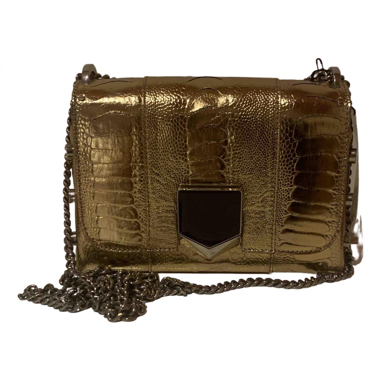 Jimmy Choo Lockett Gold Ostrich handbag for Women N