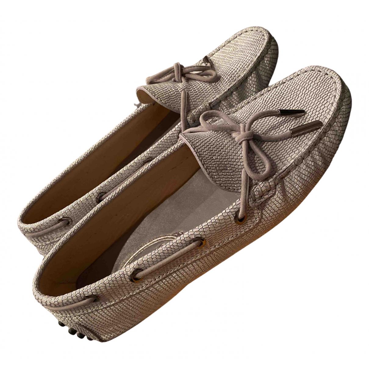 Tods - Mocassins   pour femme en cuir - gris