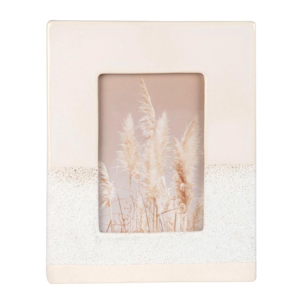 Fotorahmen aus weisser Keramik 10x15