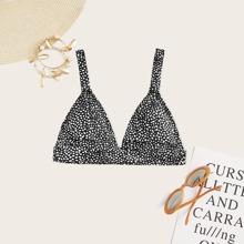 Dalmatian Triangle Bikini Top