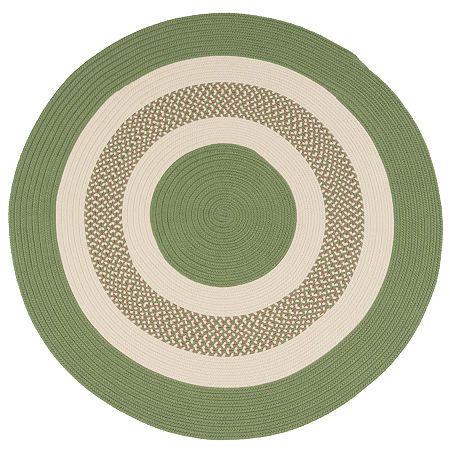 Colonial Mills Lighthouse Reversible Braided Indoor/Outdoor Round Rug, One Size , Green