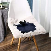 1pc Faux Fur Chair Cushion