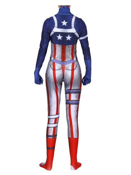 Milanoo Fortnite Cosplay Costumes Coral Fortnite Game Leotard Jumpsuit Team Leader Lycra Spandex Kids Game Cosplay Costumes