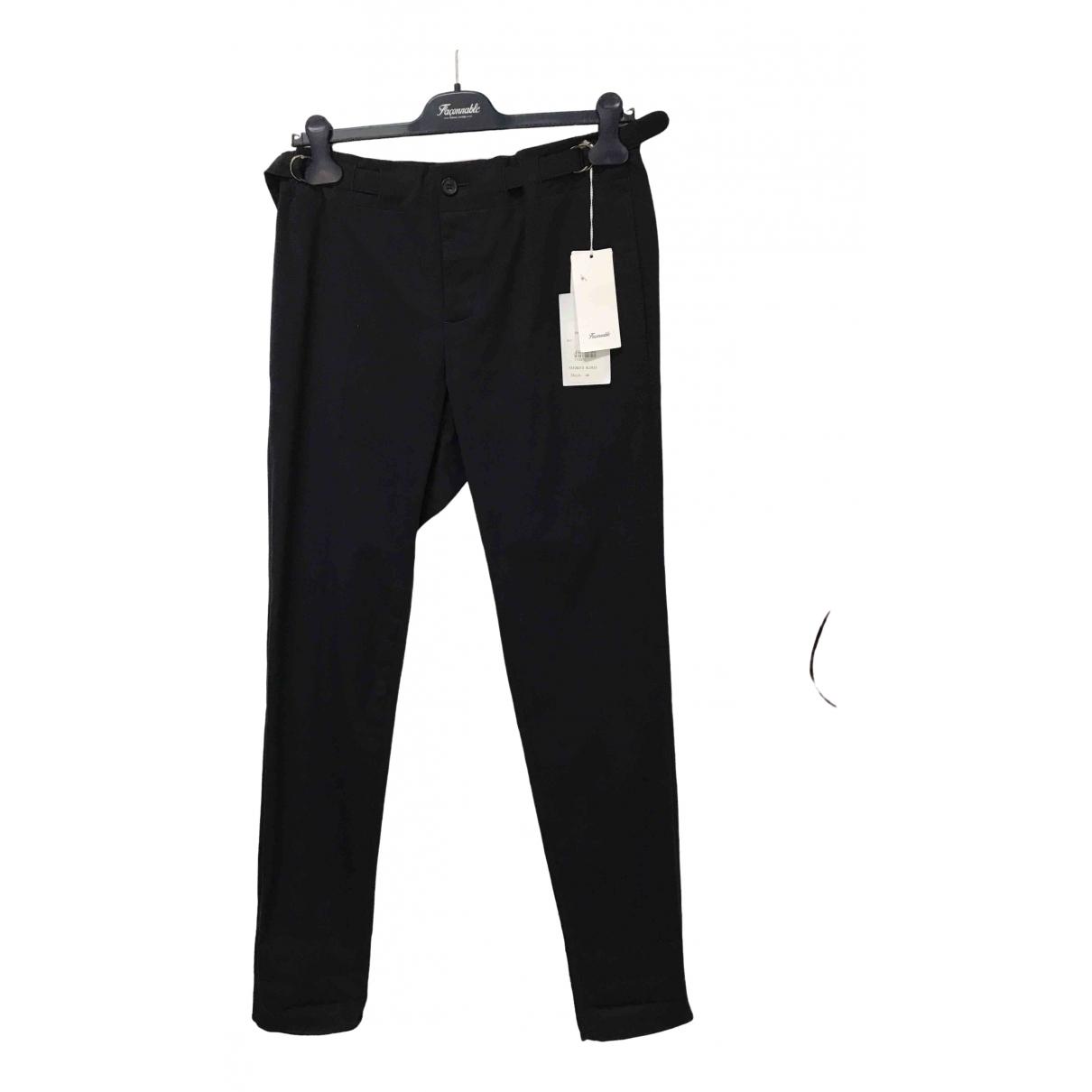 Faconnable \N Blue Cotton Trousers for Men 46 FR