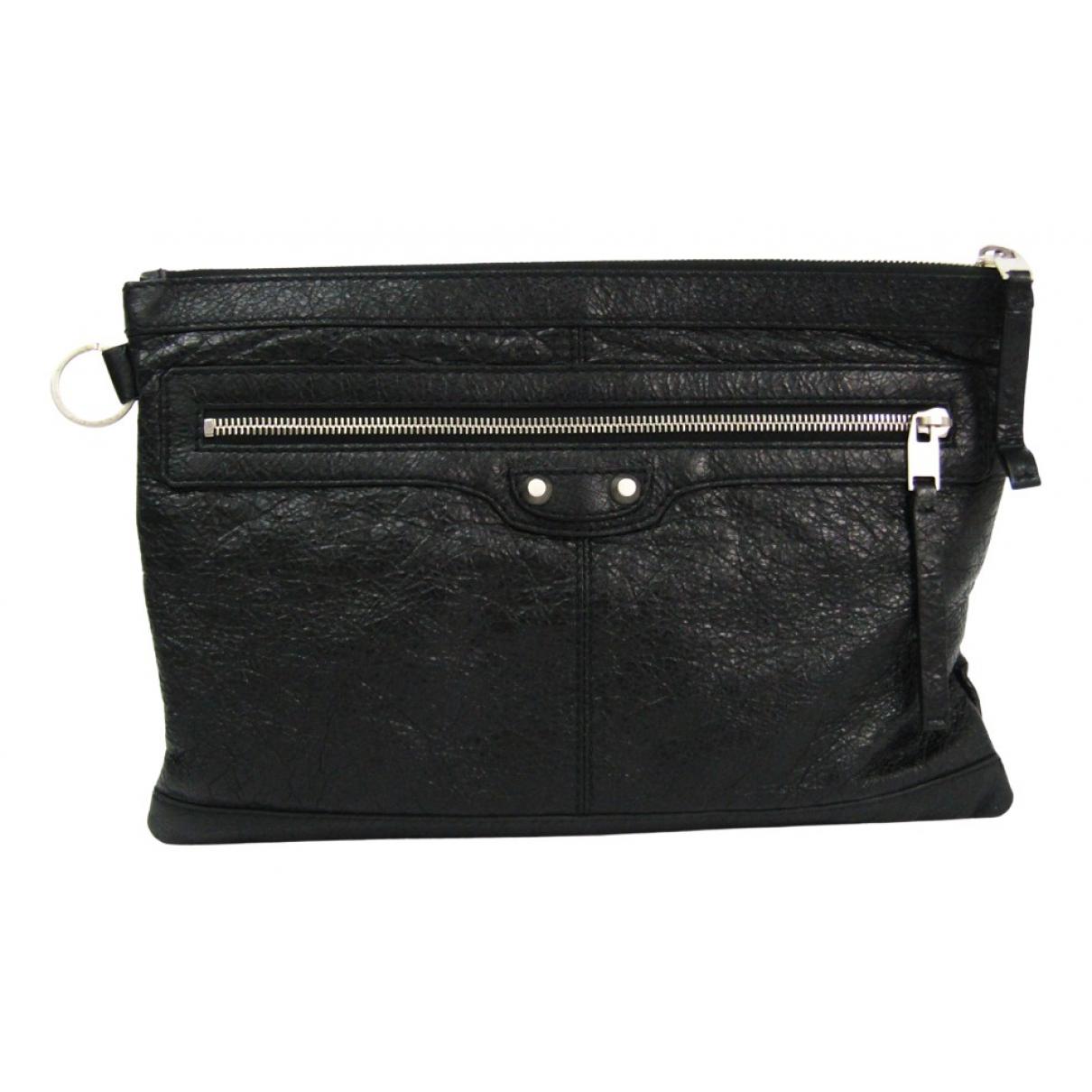 Balenciaga N Black Leather Clutch bag for Women N