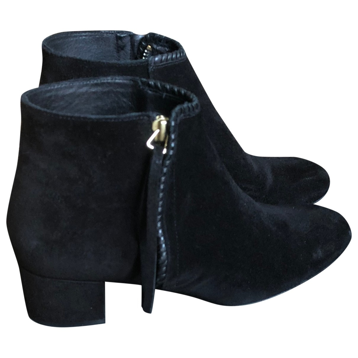 Maje \N Black Suede Ankle boots for Women 37 EU