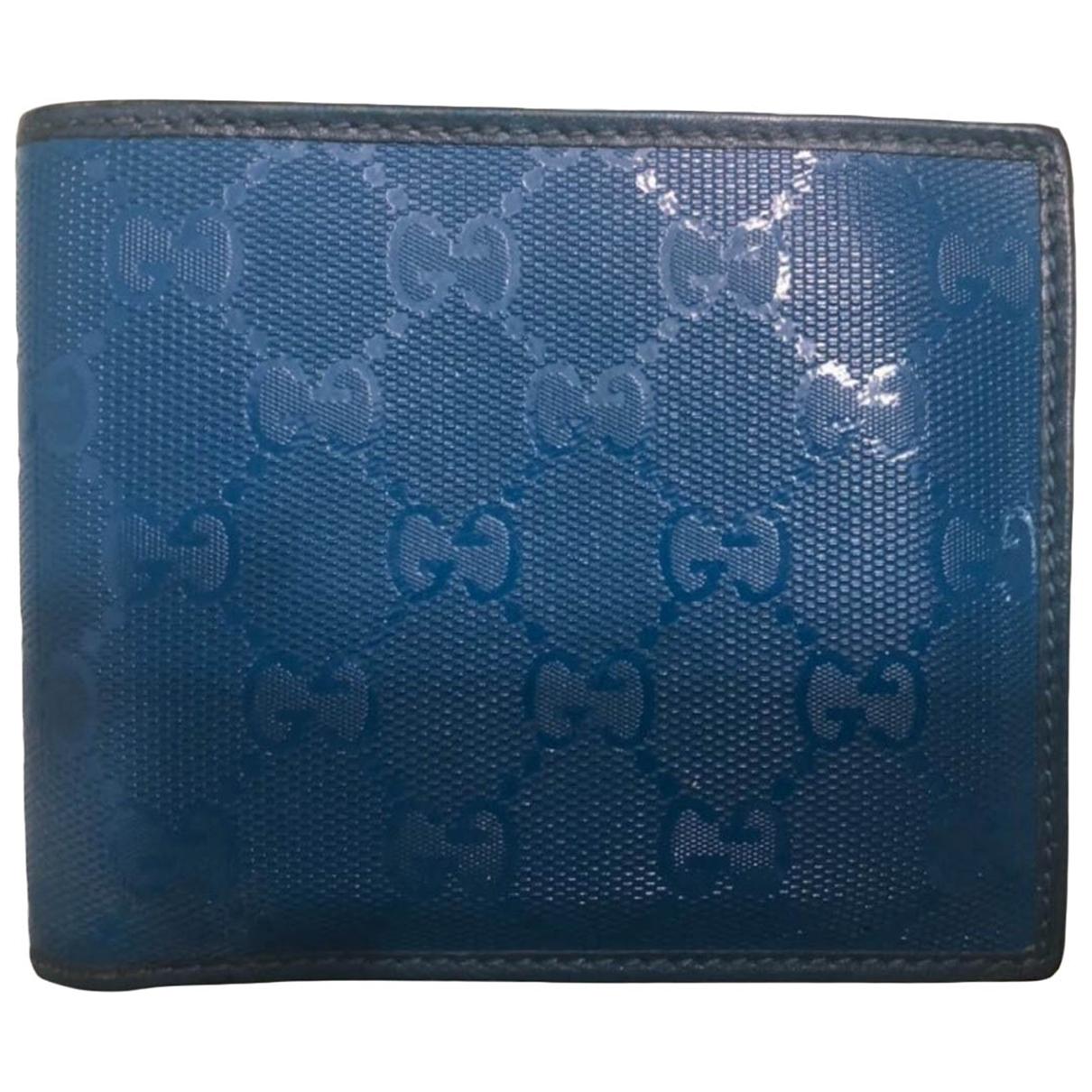 Gucci - Petite maroquinerie   pour homme en toile - bleu