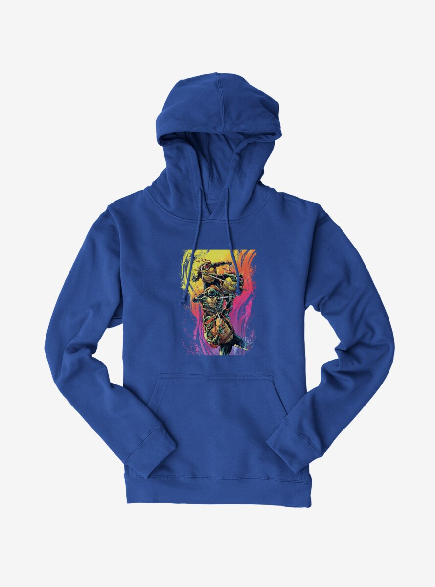Teenage Mutant Ninja Turtles Rainbow Paint Group Fight Hoodie