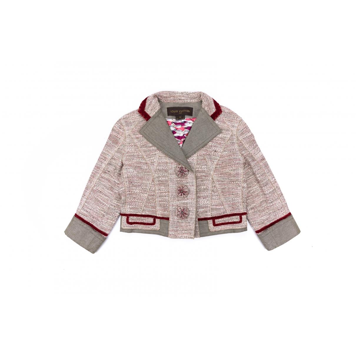 Louis Vuitton - Blouson   pour femme en coton - beige