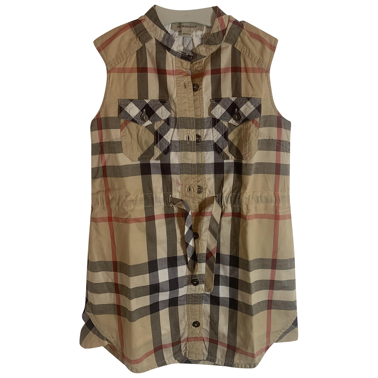 Burberry \N Beige Cotton dress for Kids 4 years - up to 102cm FR