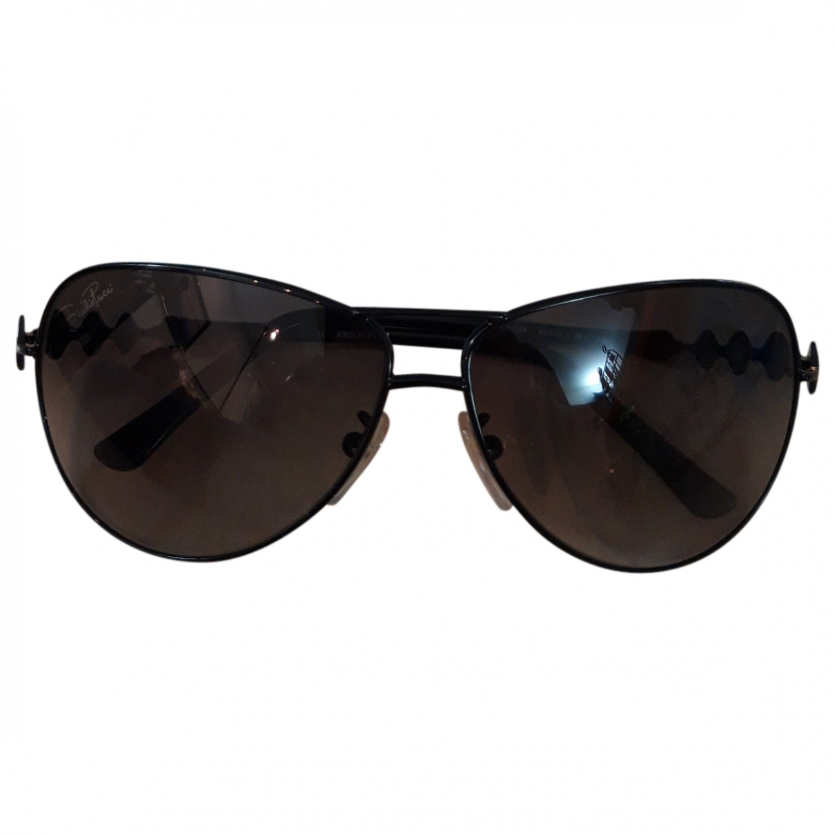 Emilio Pucci \N Black Metal Sunglasses for Women \N