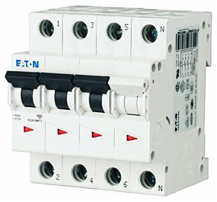 Eaton xEffect 25 A MCB Mini Circuit Breaker, 3 + N Curve C