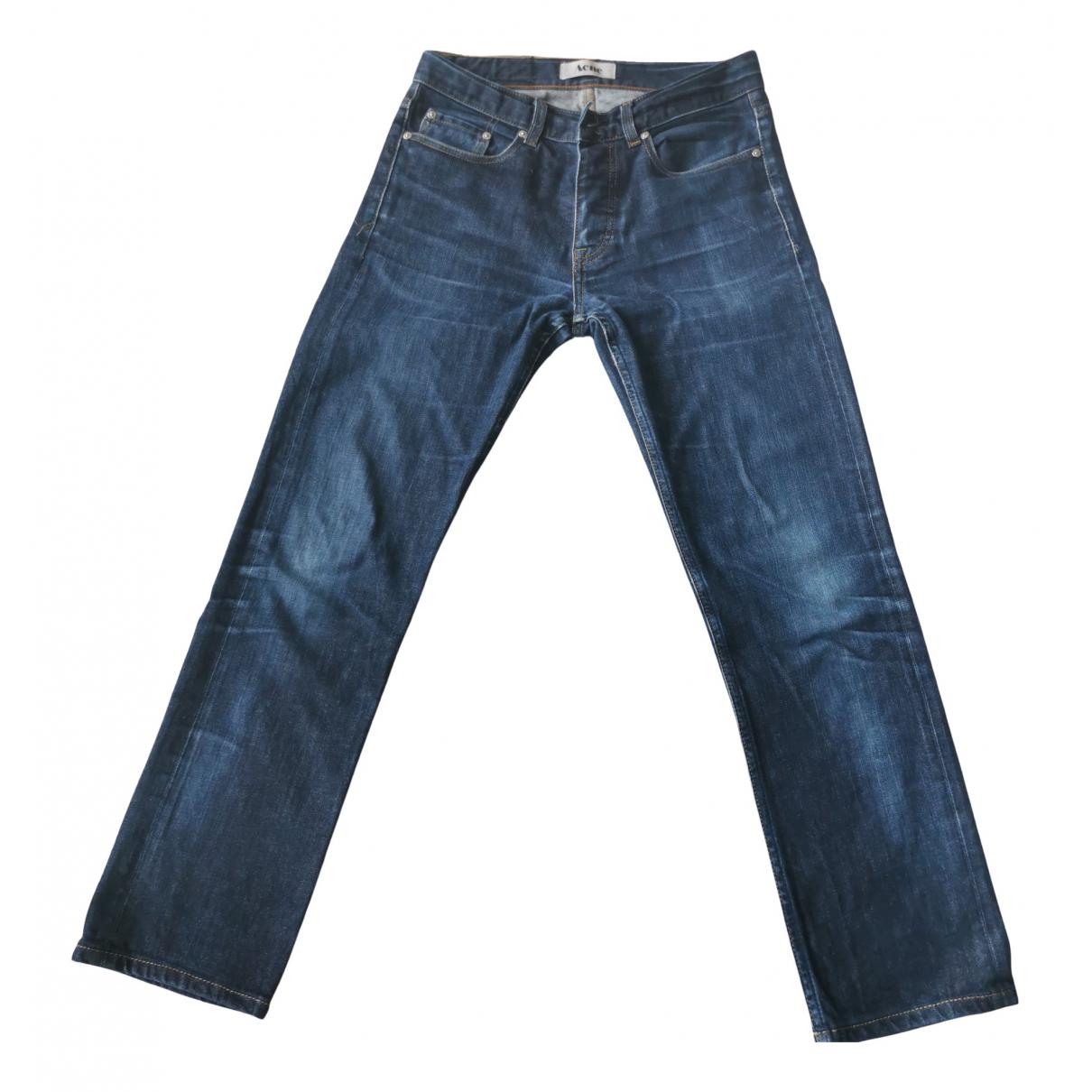 Acne Studios N Blue Cotton Jeans for Men 29 US