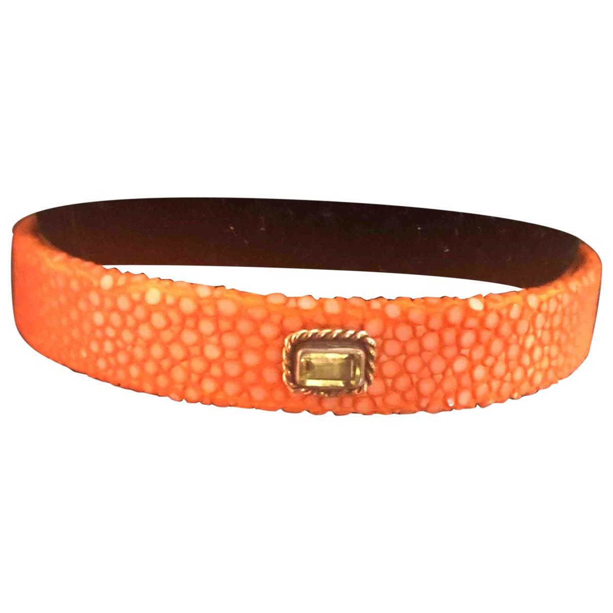 Laetitia Uzan \N Armband in  Orange Rochen