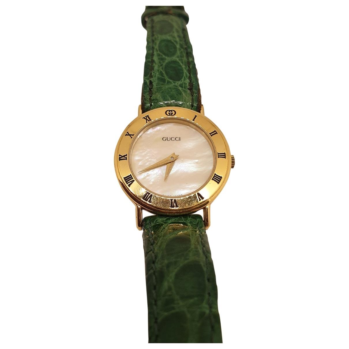 Gucci - Montre Diamantissima pour femme en acier - vert