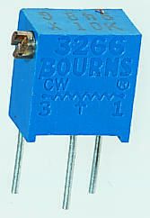Bourns 200Ω, Through Hole Trimmer Potentiometer 0.25W Side Adjust , 3266