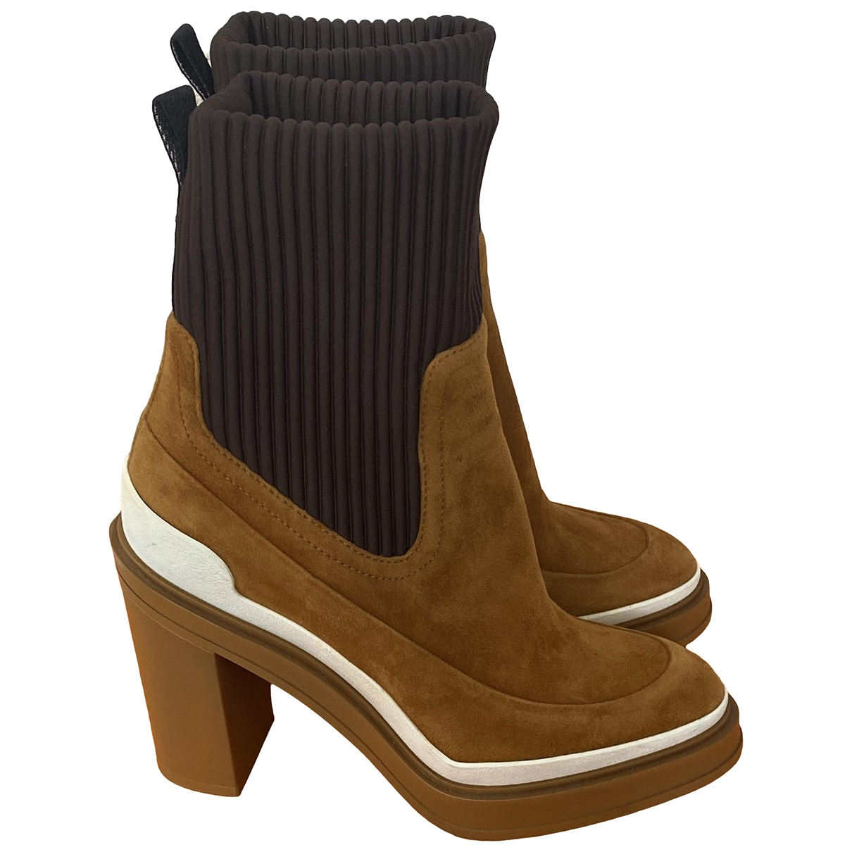 Hermès \N Camel Suede Ankle boots for Women 38 EU