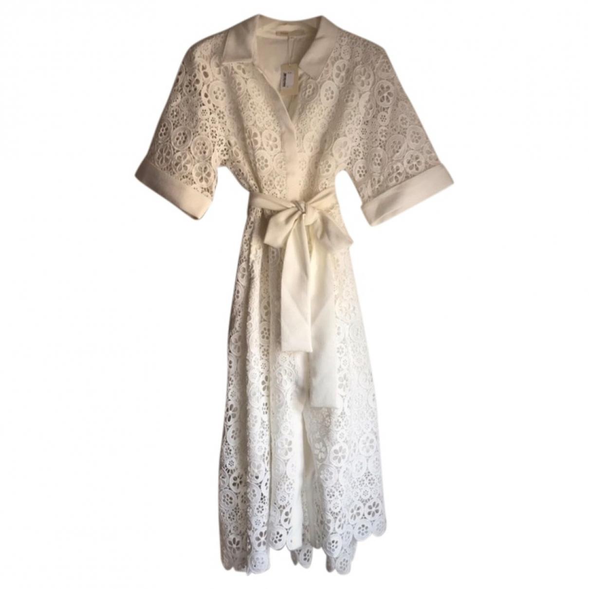Maje Spring Summer 2019 White Lace dress for Women 38 FR