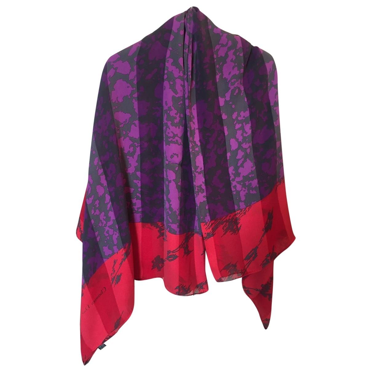 Christian Dior - Foulard   pour femme en soie - rouge