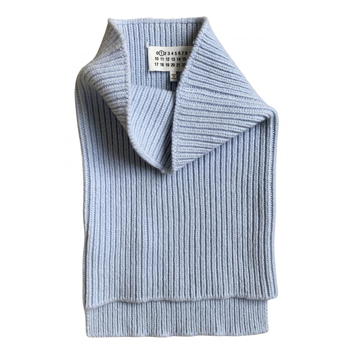 Maison Martin Margiela - Foulard   pour femme en laine - bleu