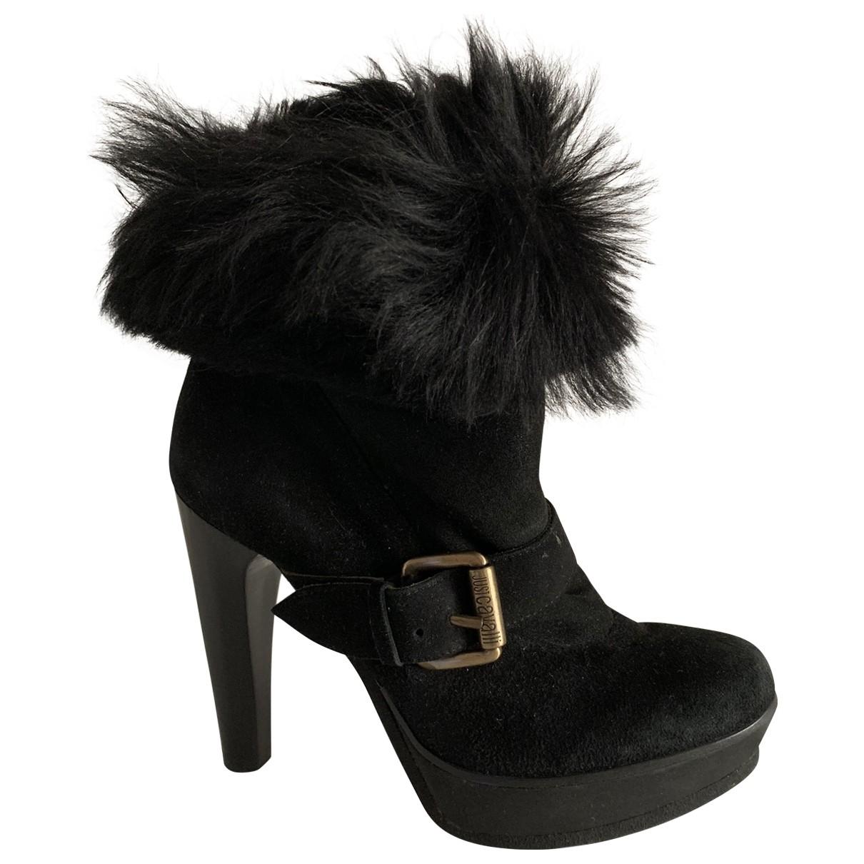 Just Cavalli - Boots   pour femme en suede - noir