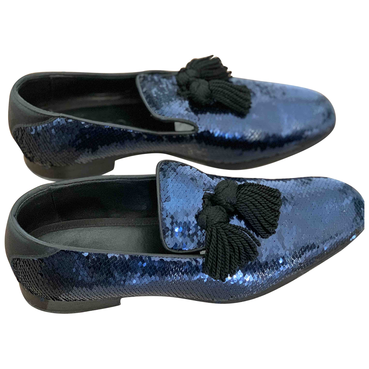 Jimmy Choo \N Blue Glitter Flats for Men 43.5 EU