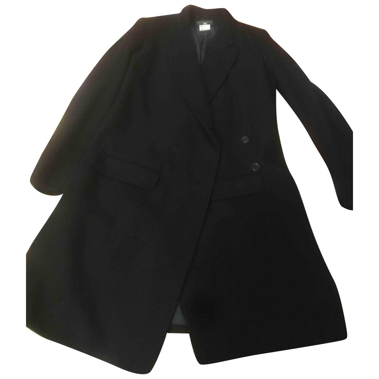 Ann Demeulemeester - Manteau   pour femme en laine - noir