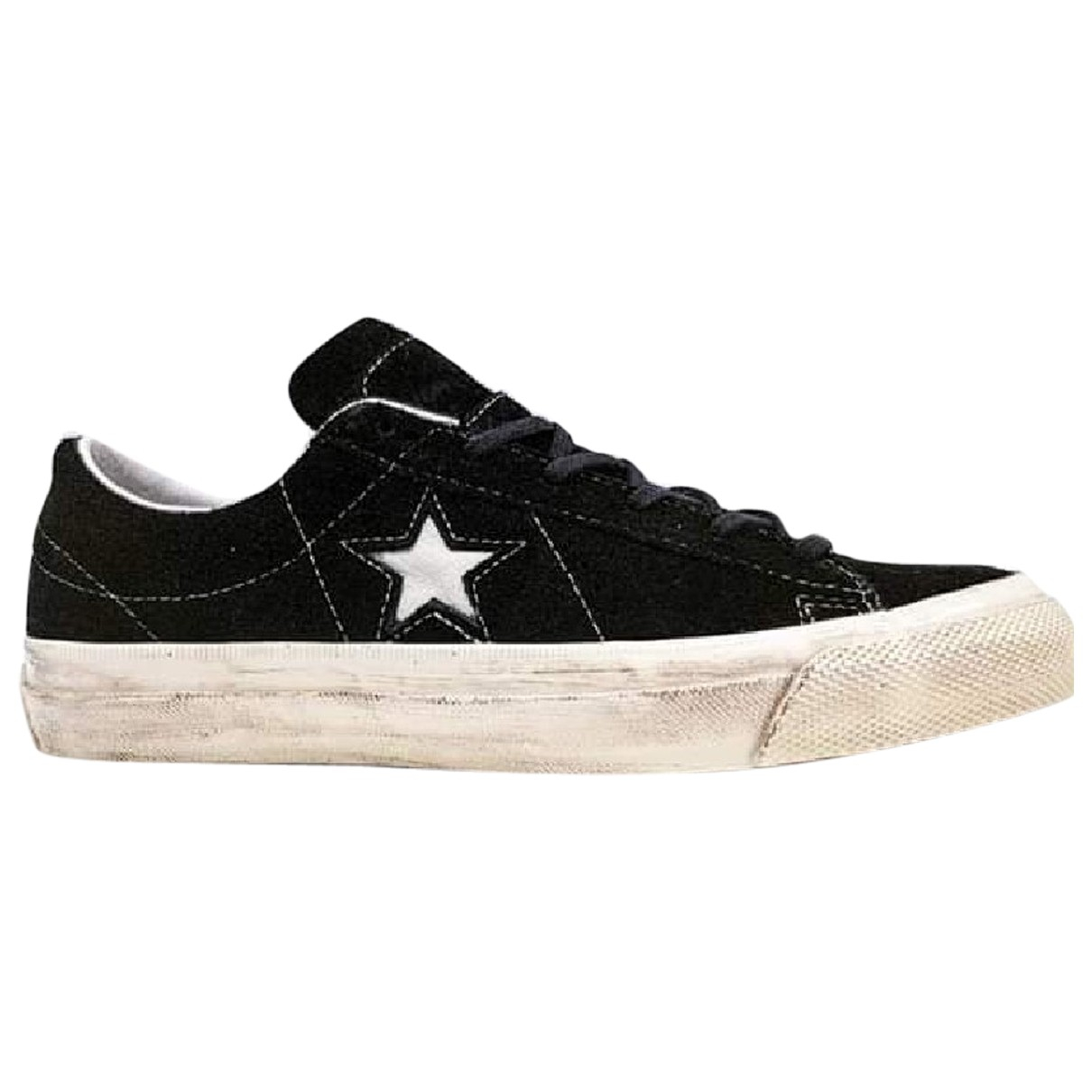 Converse N Black Suede Trainers for Women 38 EU