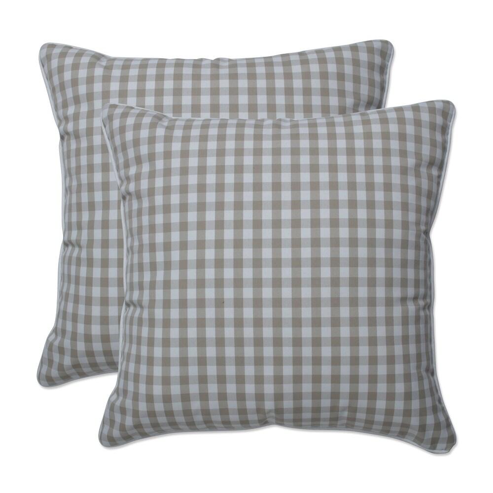 Pillow Perfect Outdoor | Indoor Dawson Birch 16.5 Inch Throw Pillow 16.5 X 16.5 X 5 (Tan)
