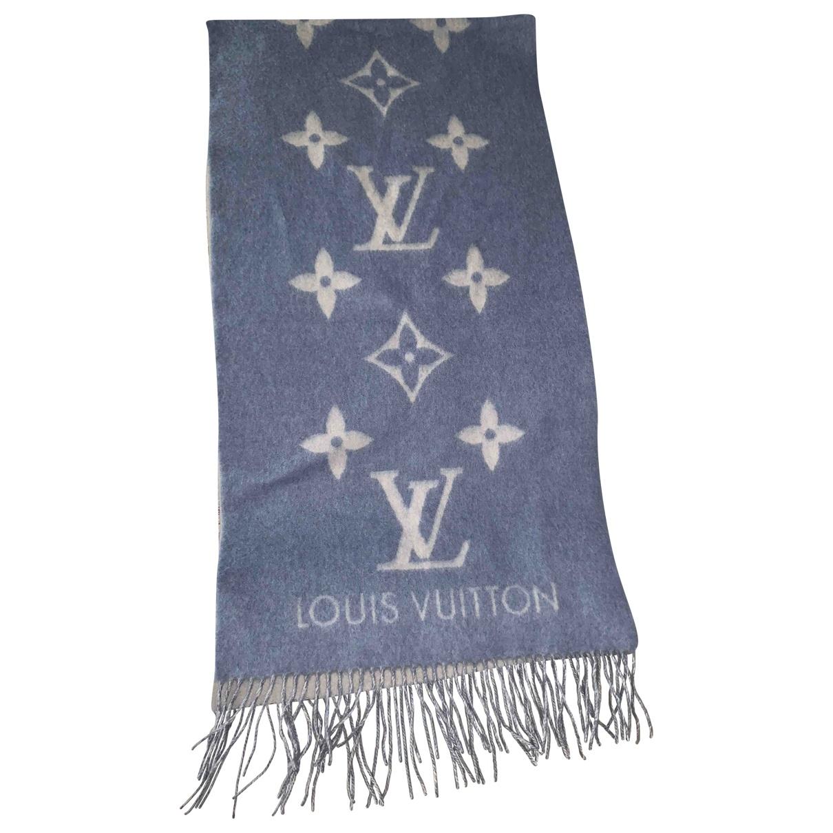 Louis Vuitton \N Schal in  Blau Kaschmir