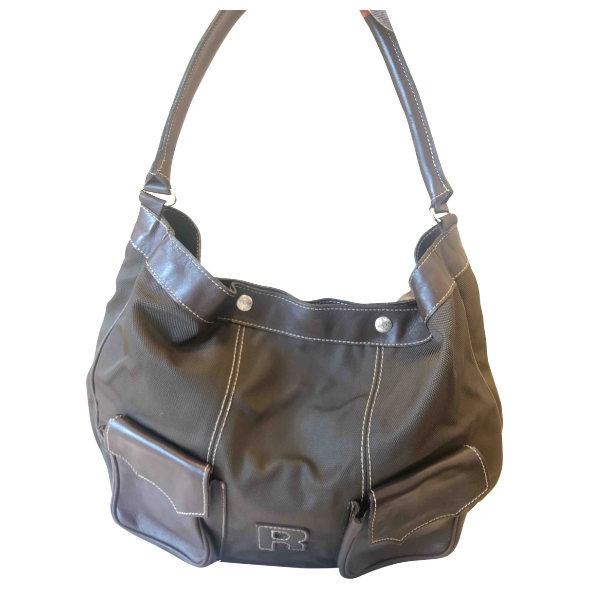 Non Signé / Unsigned \N Brown Cloth handbag for Women \N