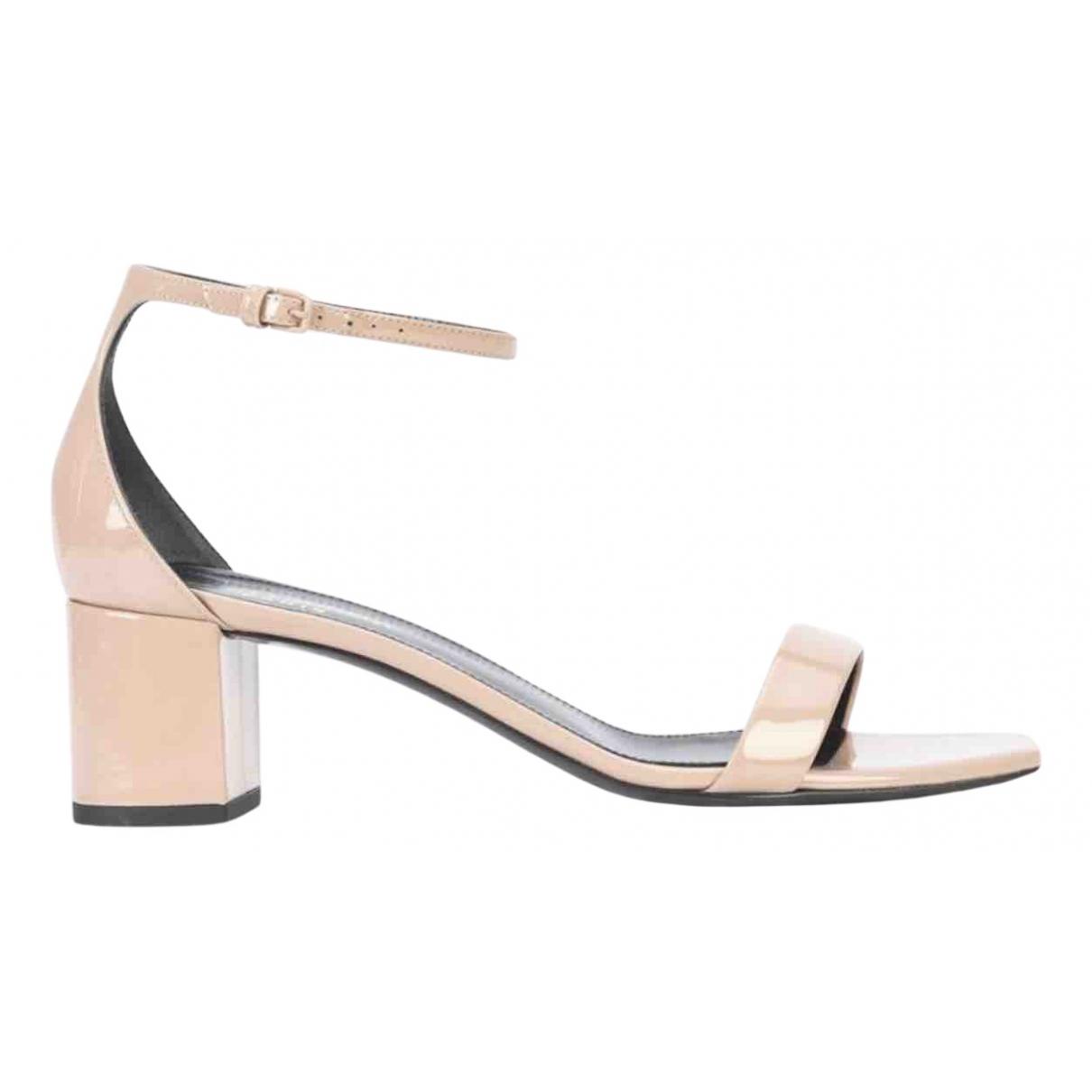 Saint Laurent Loulou Pink Patent leather Sandals for Women 39.5 EU