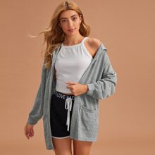 Dual Pocket Hooded Lounge Robe