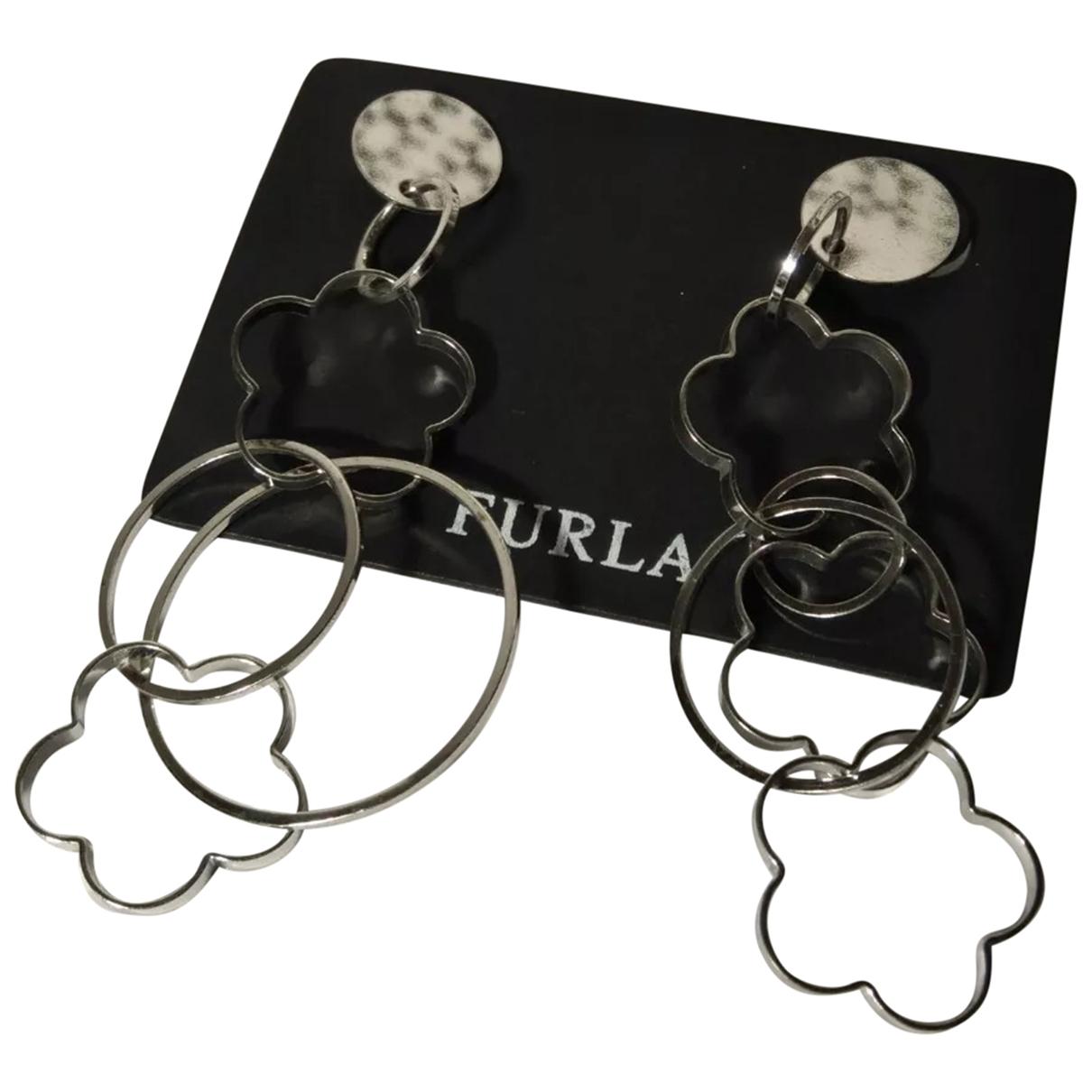 Furla - Boucles doreilles   pour femme en metal - argente