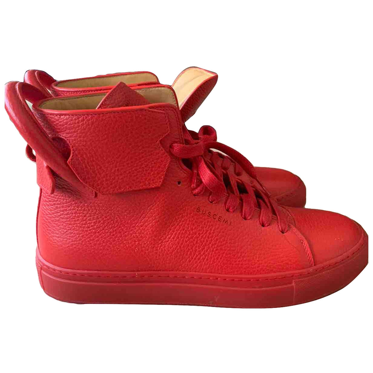 Buscemi \N Red Leather Trainers for Men 42 EU