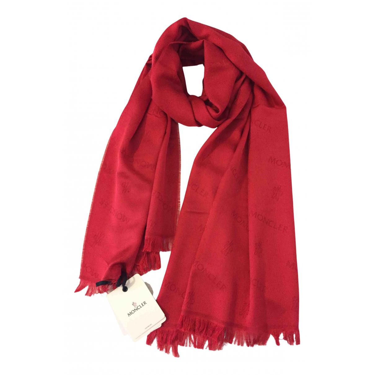 Moncler N Red Wool scarf for Women N