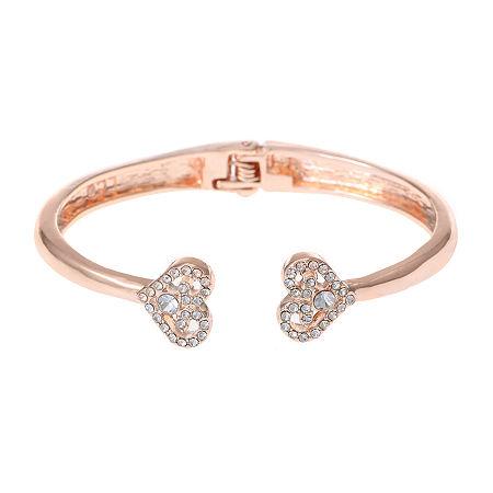 Liz Claiborne Heart Stretch Bracelet, One Size , White