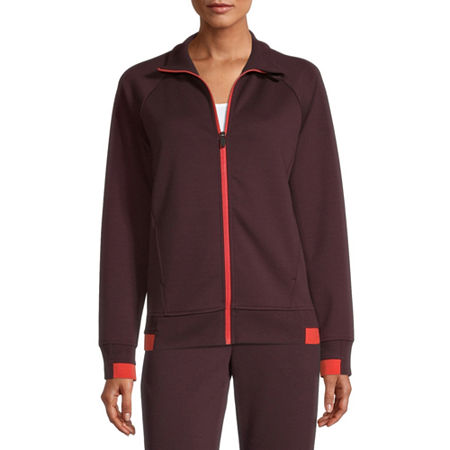 Xersion Mock Neck Jacket, Small , Red