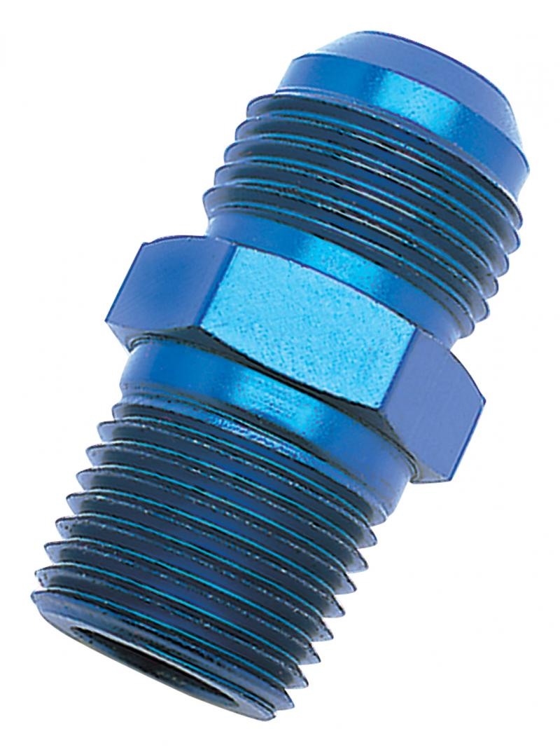 Russell Adapter Fitting; AN to NPT; Straight;-6 x 1/2in.; Blue