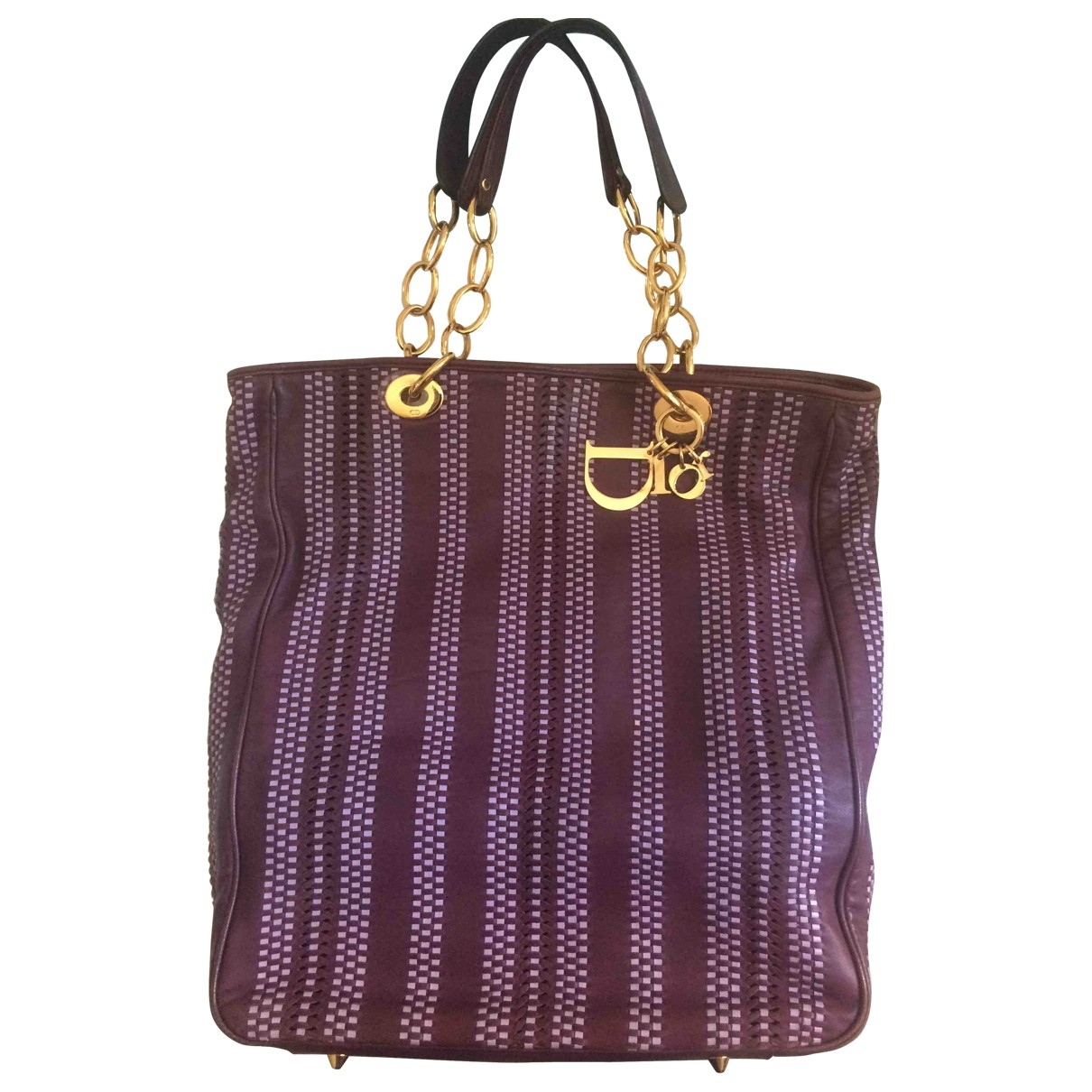 Dior Dior Soft Shopping Purple Leather handbag for Women \N