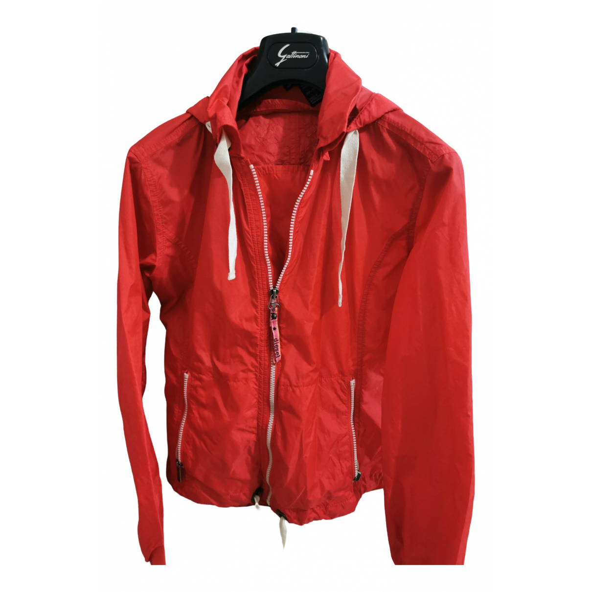Diesel \N Trench in  Rot Polyester