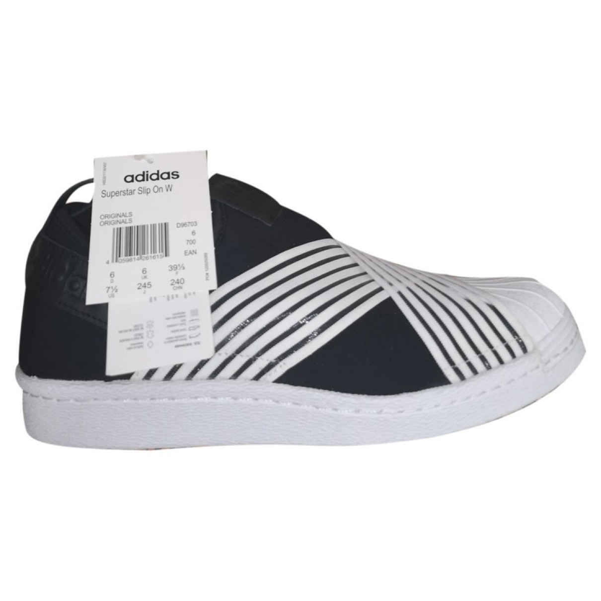 Adidas Superstar Black Rubber Trainers for Women 39 EU